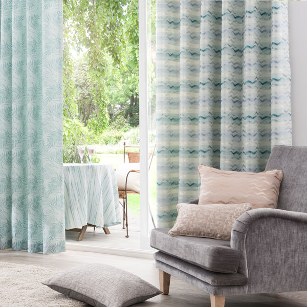 Horizons Curtains and Cushions